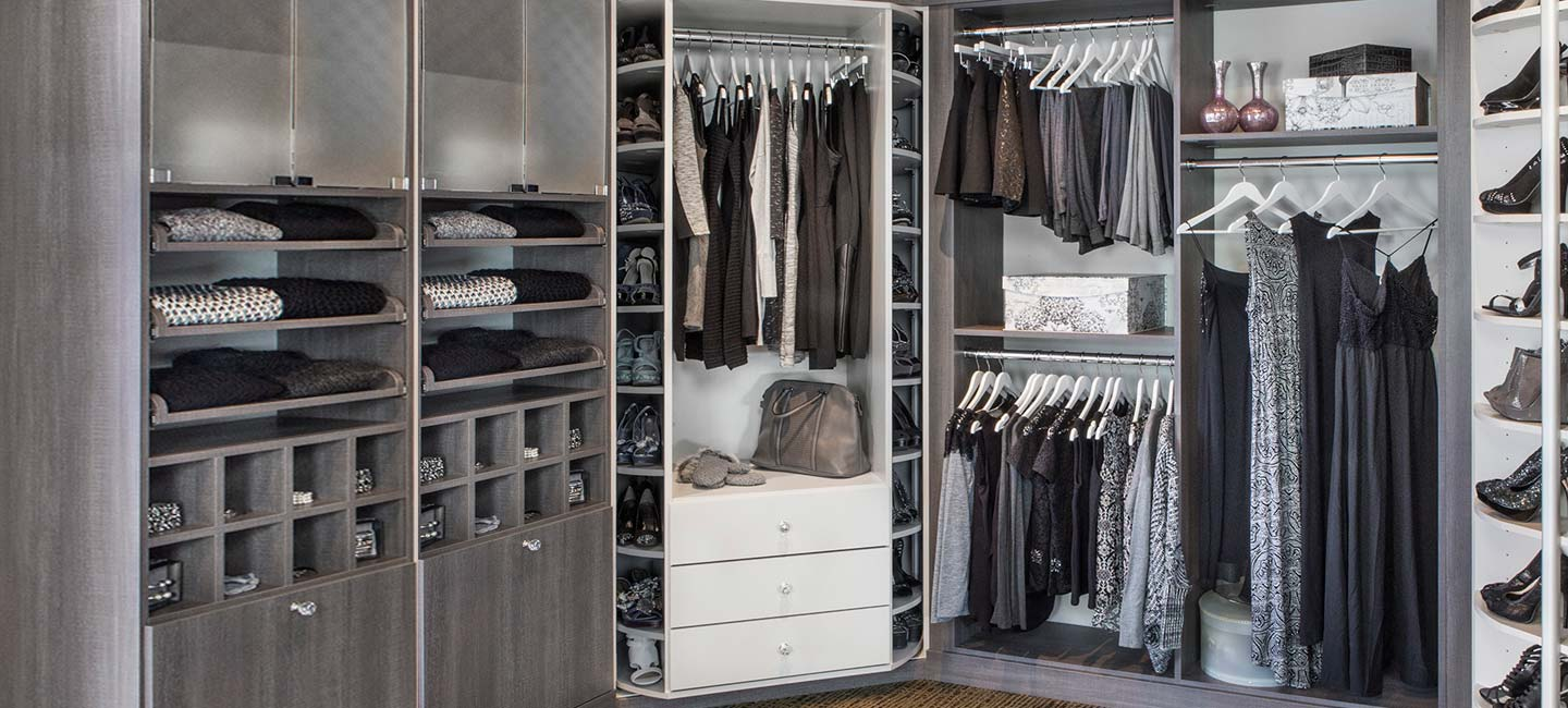 Closet with 360 Organizer Valet in Morning Dew