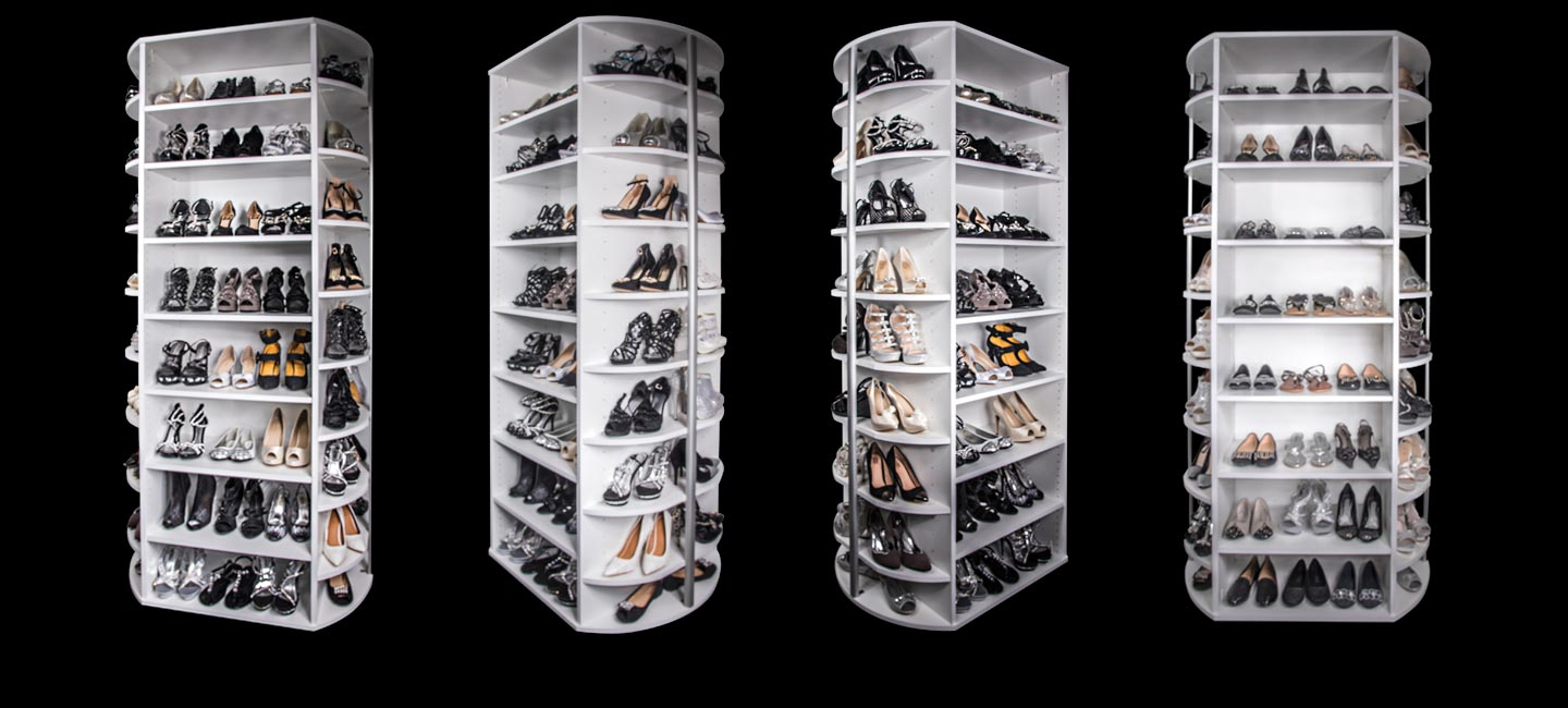 The 360 Organizer Shoe Spinner Includes 4 Sides Of Rotating Shoe Closet  Storage