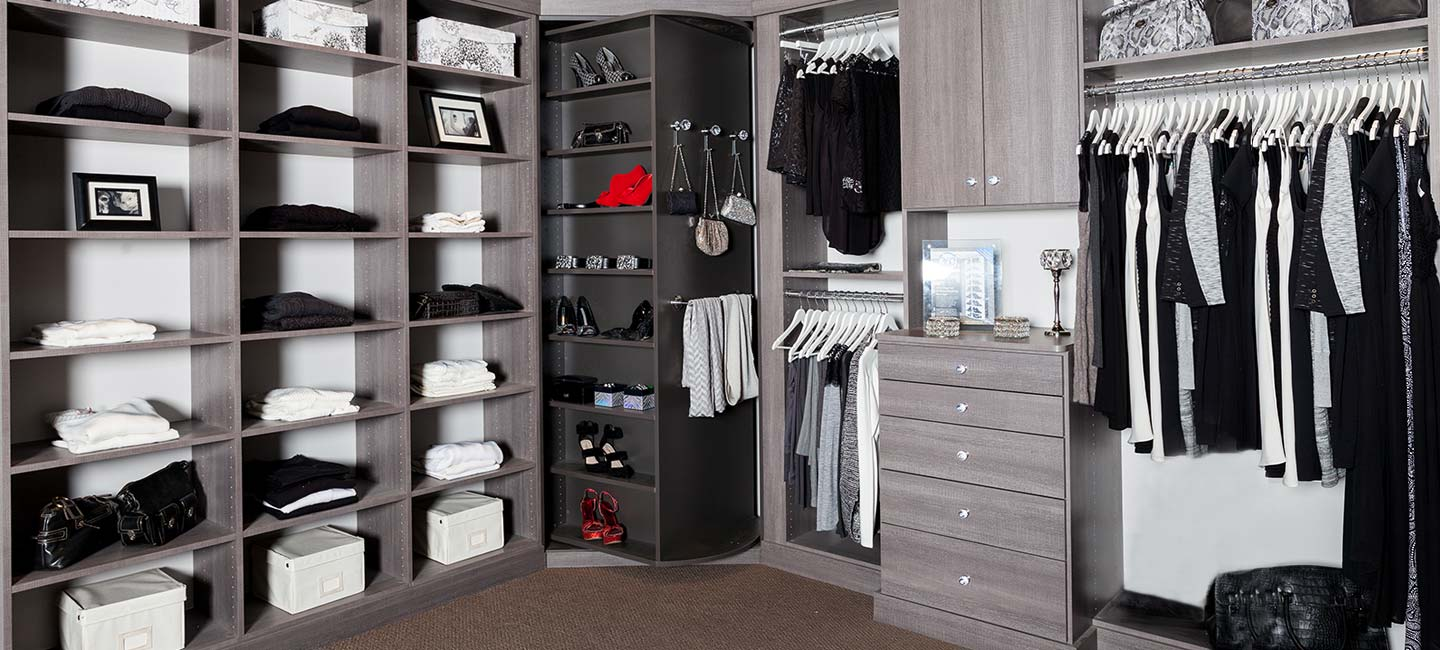 Closet With 360 Organizer Valet In Slate With A Custom Configuration