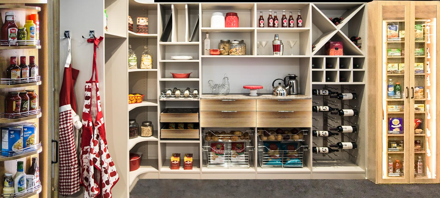revolving closets are perfect for the pantry