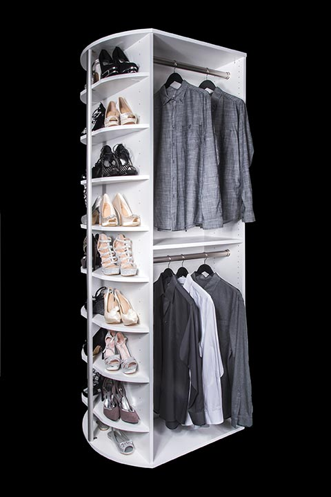 Double hang with shoe storage organizer By Lazy Lee