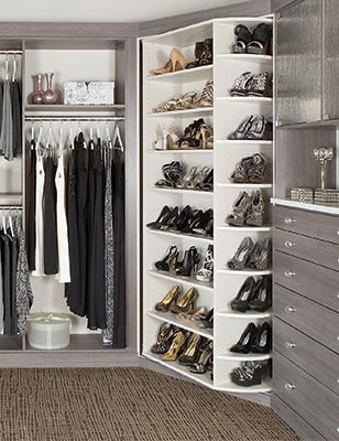 Custom Closet Organizer   360 Organizer Shoe Spinner Shoes Closet System