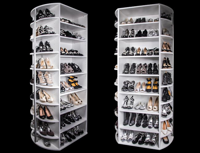 Front and Back Sides of the 360 Organizer® Shoe Spinner shoes closet