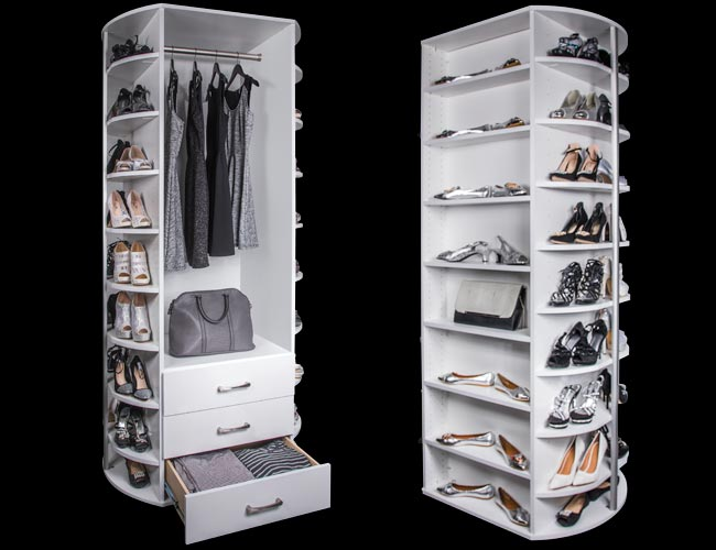 360 Rotating Closet Organizer For Shoe Closets And More