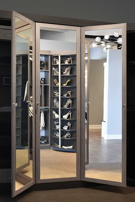 ... 3 Way Mirror Full View Of Closet Organization System Showing Storage  Capability