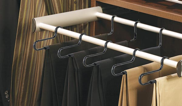 Elite Slack Pull-Out Rack closet accessories for custom closet system