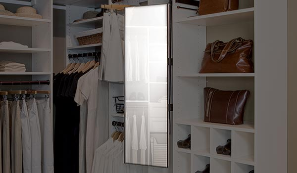 Good Closet Accessories: Elite Pull Out Mirror For Closet System