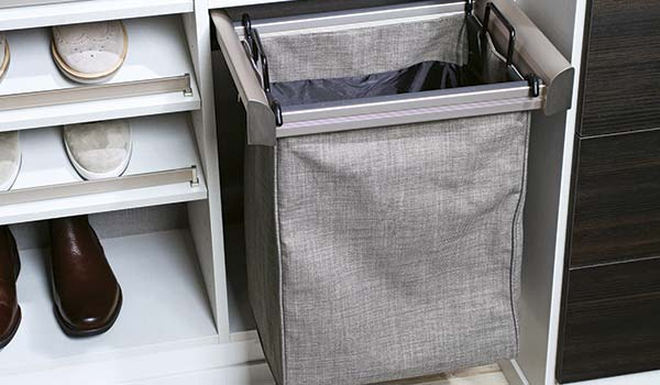 Closet Works premium pull out single bag built in hamper
