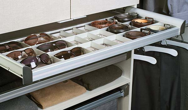 Closet Accessory - Jewelry divider for Engage pull-out shelf