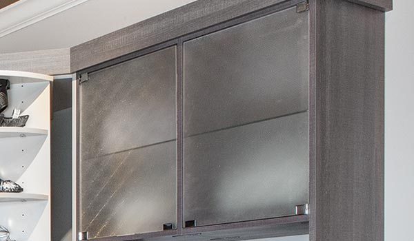 Glass doors for cabinet