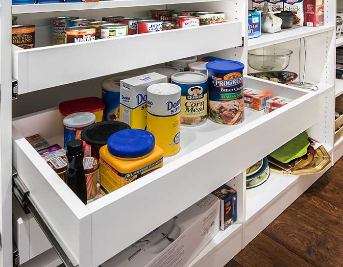 pantry pull out shelf with straight cut sides