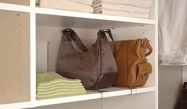 Acrylic Shelf Divider is Great for Organizing Closet Shelves