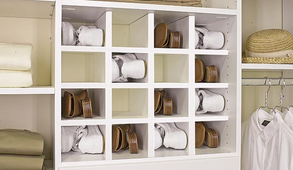 Shoe cubbies for organizing shoes