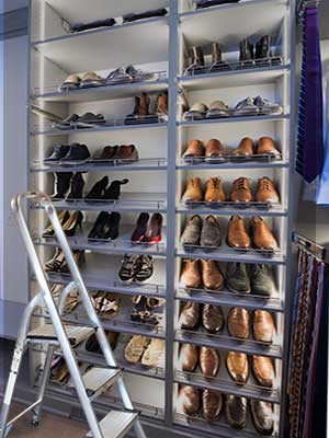Closet Works closet step stool for accessing high ceiling storage