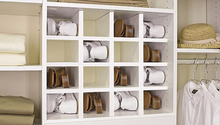 shoe cubbies for reach in closet