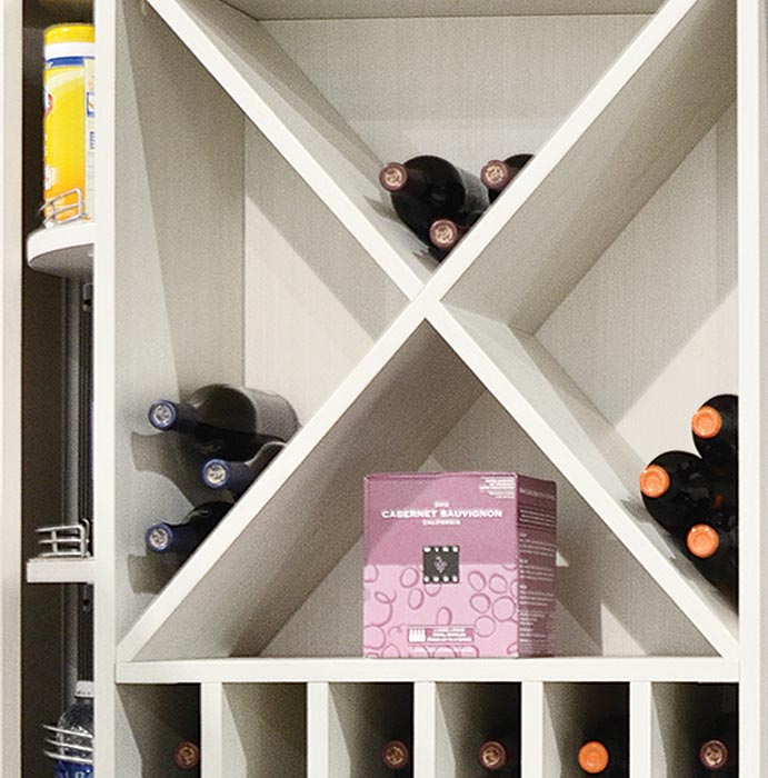 Wine Cube Accessory as Wine Storage Racks in the 360 Organizer Pantry
