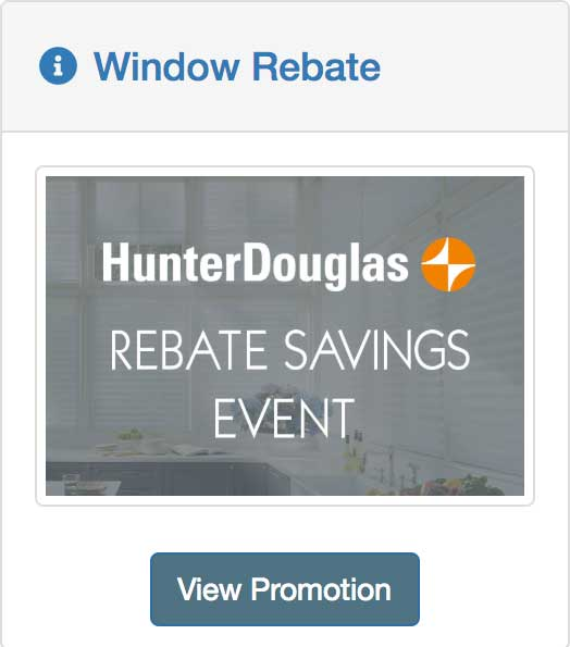 rebate savings on window treatments