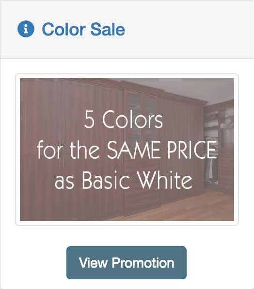choose from 5 colors for the same price as white
