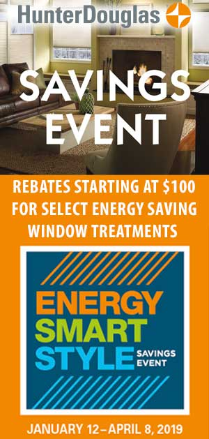 energy saving window treatments on sale now at Closet Works