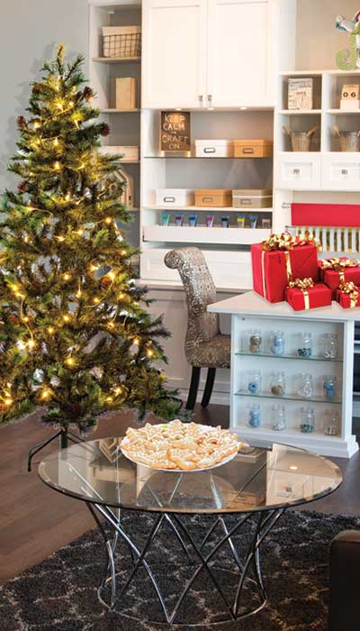 Setting up a dedicated craft center is a great holiday organizing tip