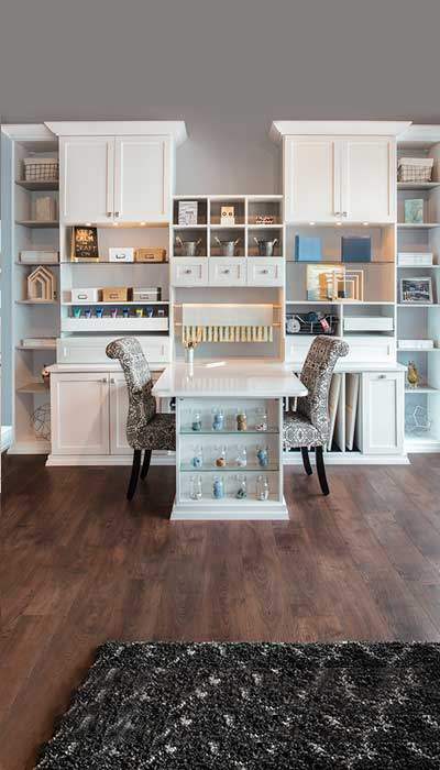 Storage ideas for kids include a dedicated craft room