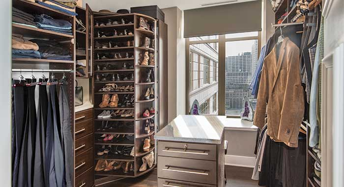 360 Organizer rotating closet system by Lazy Lee