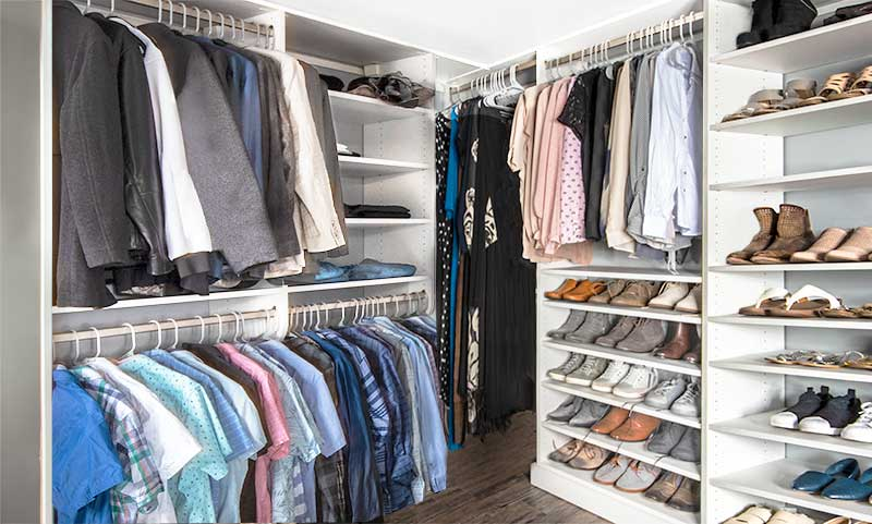 How to build a custom closet using building blocks of closet design