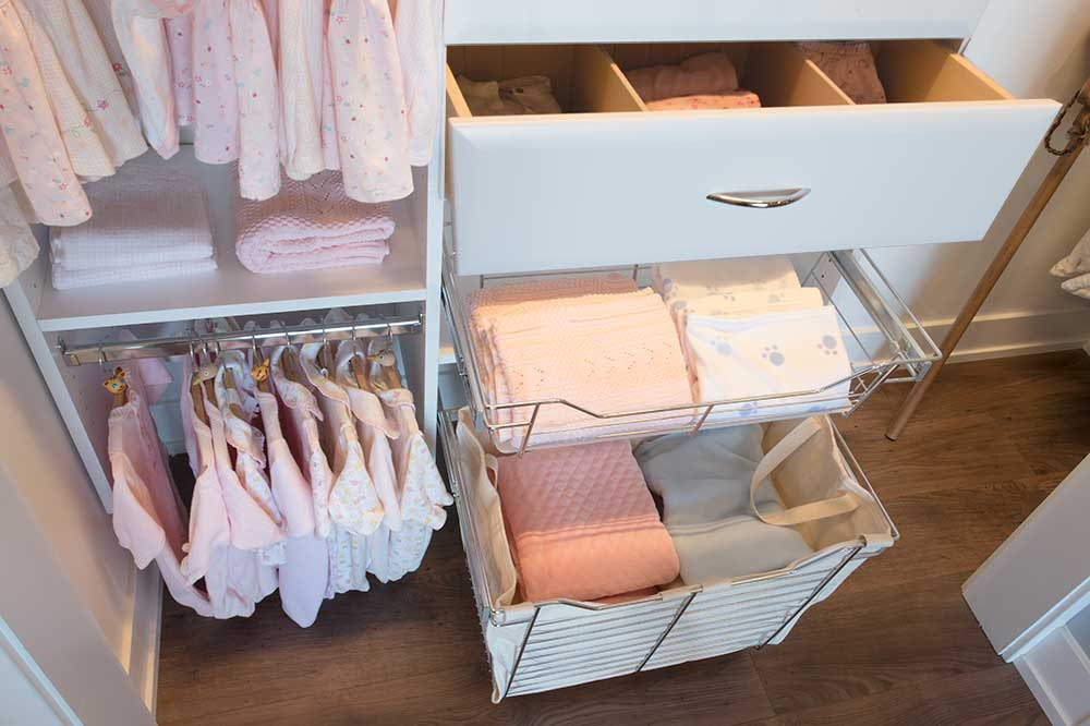 closet drawer and pull-out baskets