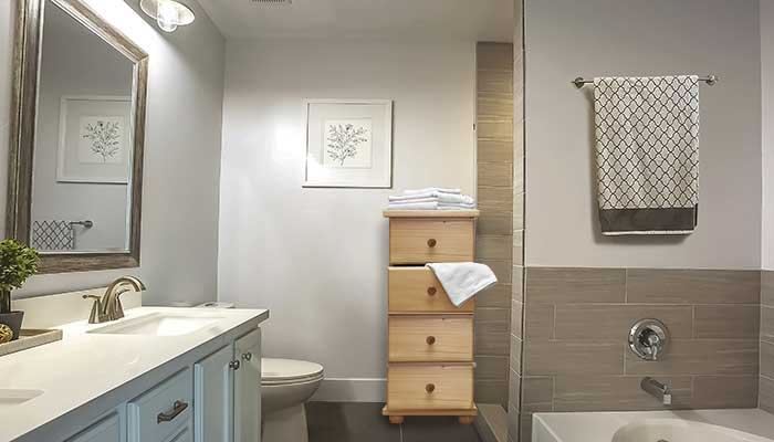 Dresser for linens in bathrooms