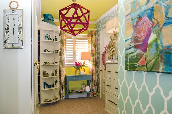 small bedroom converted to dressing room and closet