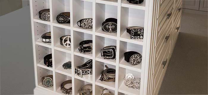 How to organize belts using cubbies as belt organization ideas