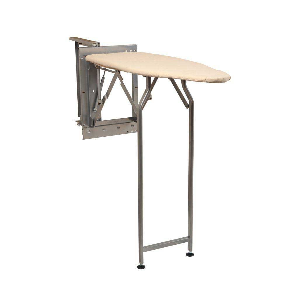 folding ironing board with mechanism - open