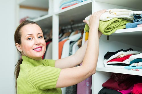 Organized closets reduce stress on the brain