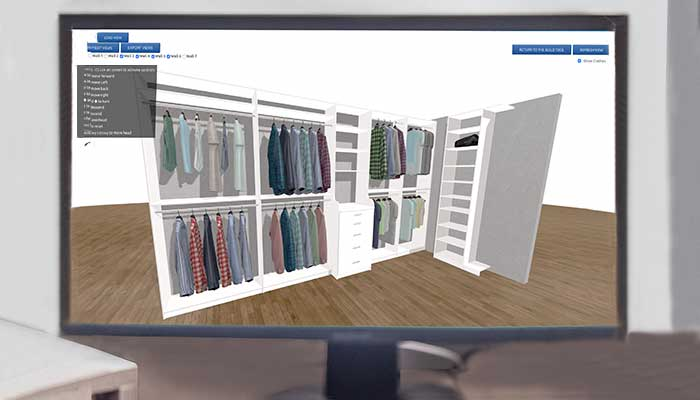 custom closet proposal drawing for closet comparison