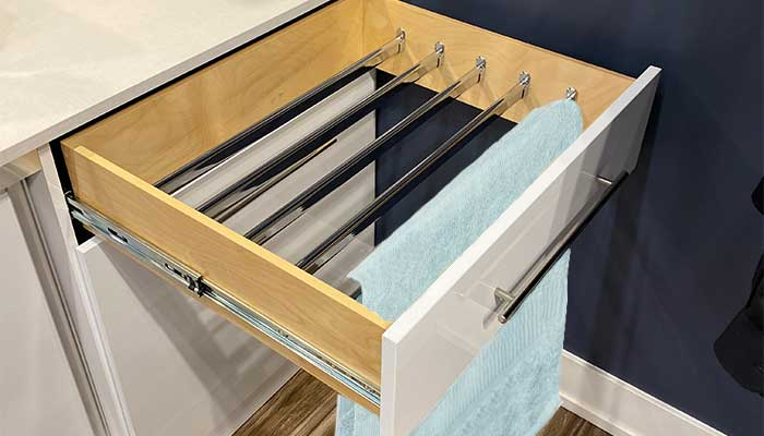 Drawer drying rack for clothes
