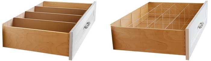 belt organization ideas include using drawer dividers for belt organization