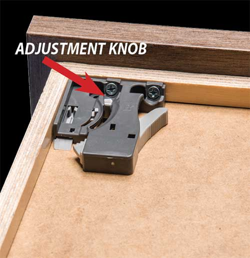 Step 7 to installing under-mount dovetail drawers