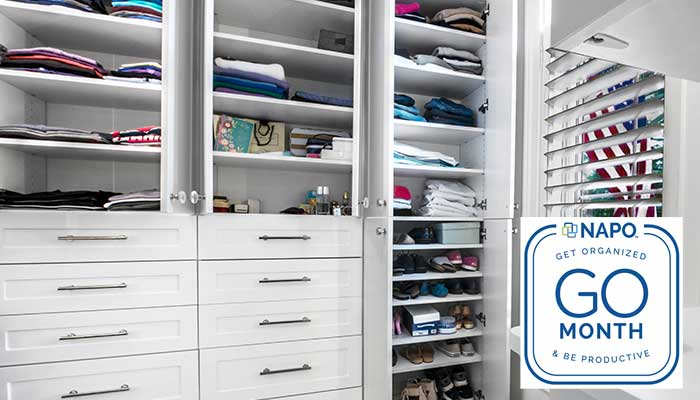 Learn how to become organized by stating with the closet and NAPO