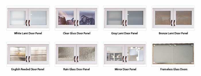 Types of glass closet cabinet doors