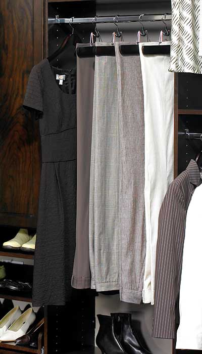 closet remodeling that will hang pants from cuff
