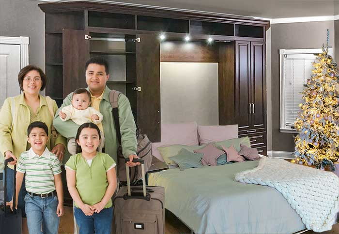 Guest rooms with Murphy Beds
