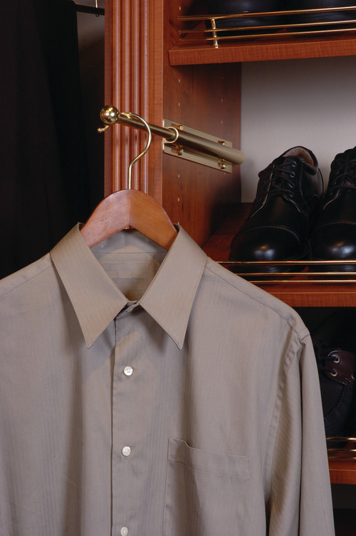 Pull-Out Valet Rod for Closet Organization System