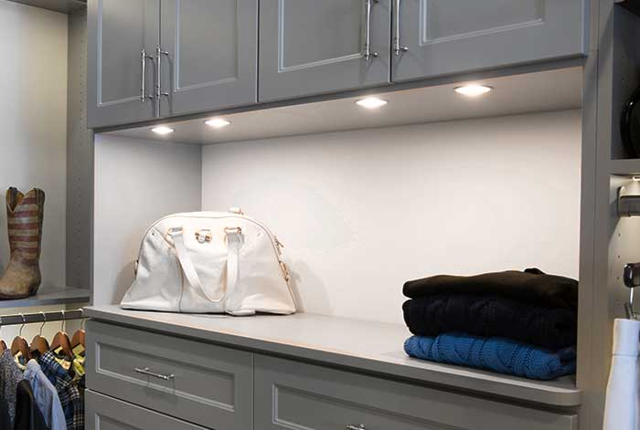 LED task lighting for closet