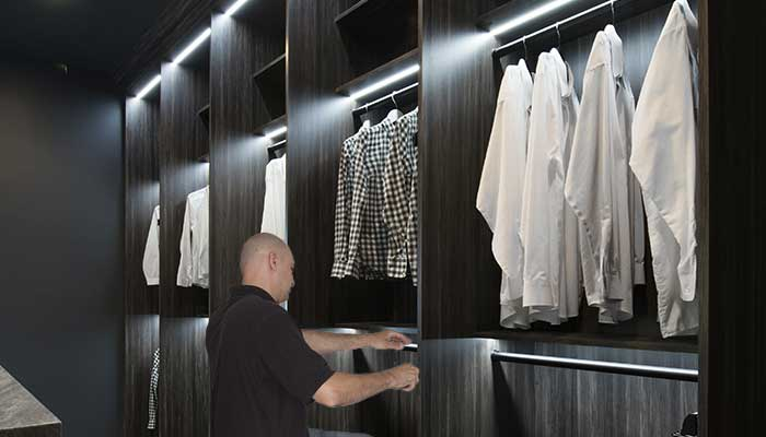 lighting for closets is easy to install