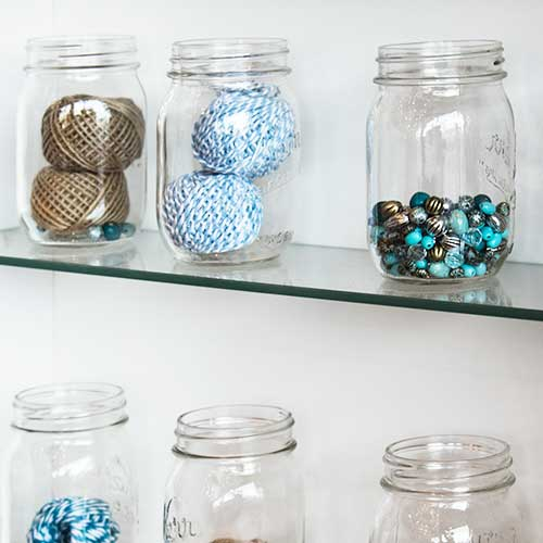 jars for craft supplies