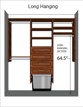 long-hang closet section