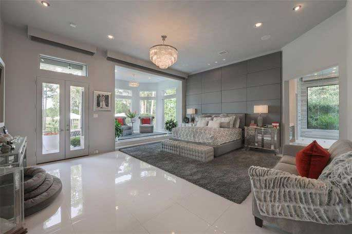 The 3-story luxury closet is accessed from the master bedroom