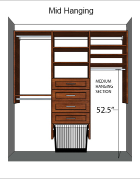 medium hang closet section