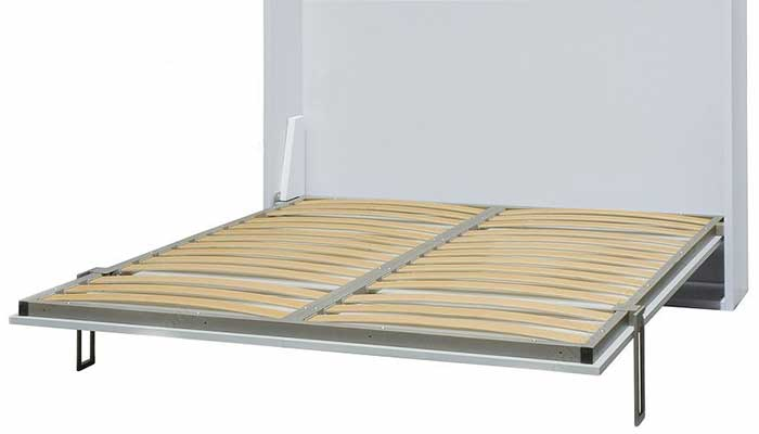 Slat wood support for Murphy bed