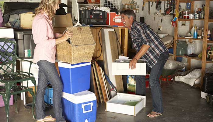 step 2 in how to organize your garage - sort